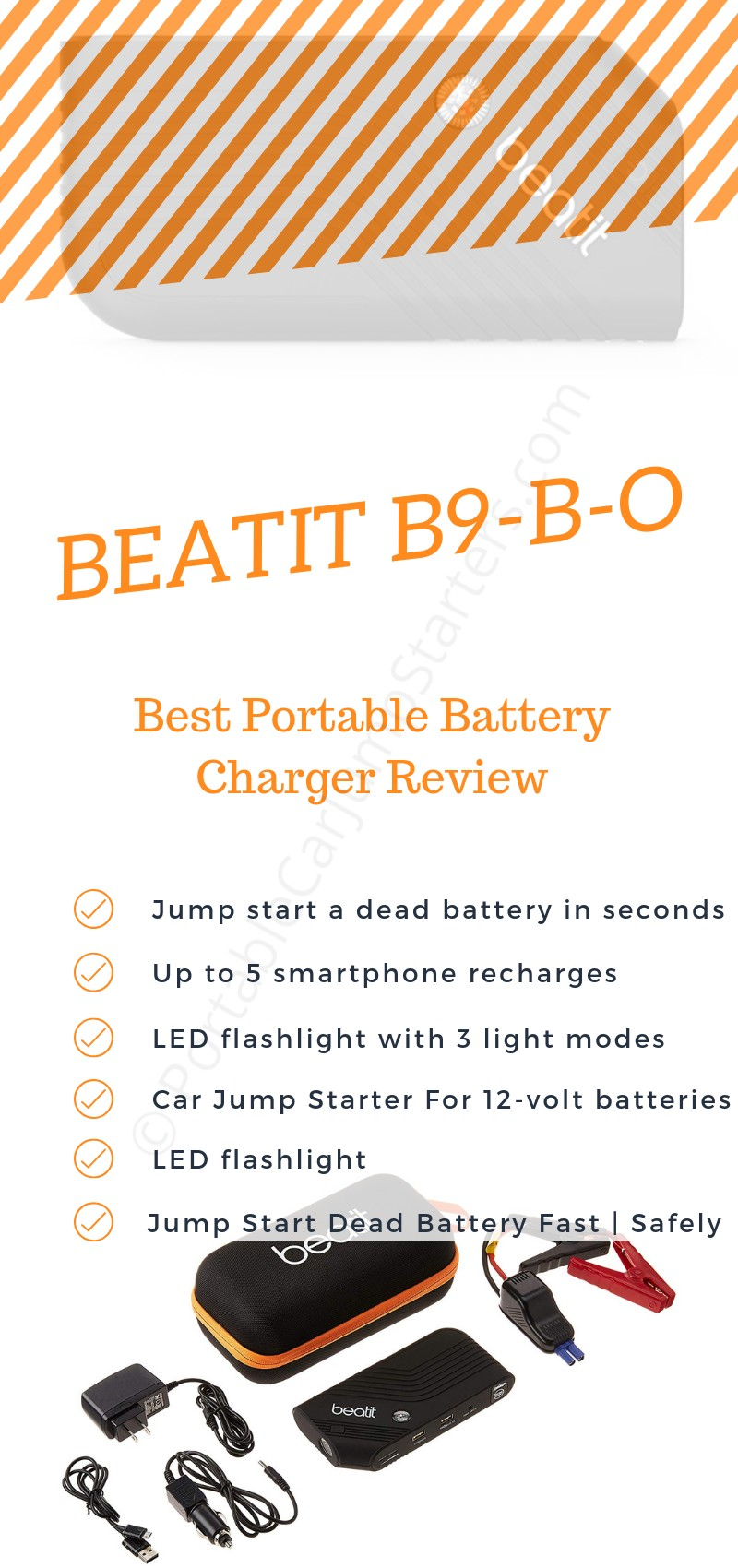 BEATIT B9-B-O Best Portable Battery Charger Review 2019
