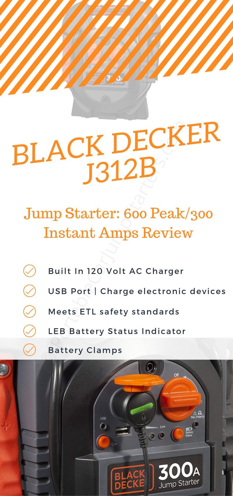 black decker j312b best car jump starter review