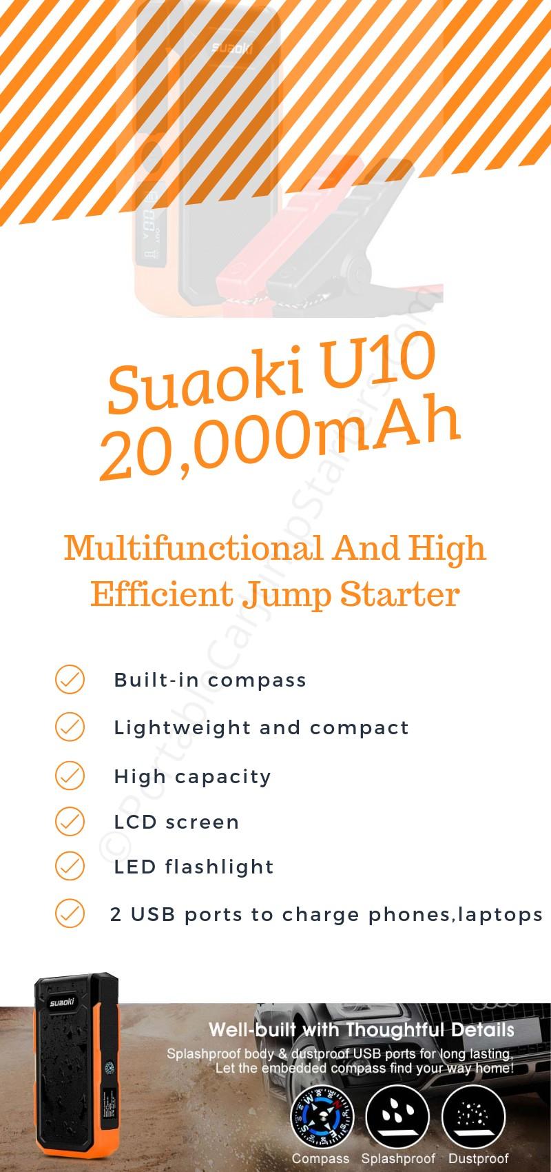 Suaoki U10 Jump Starter Specifications
