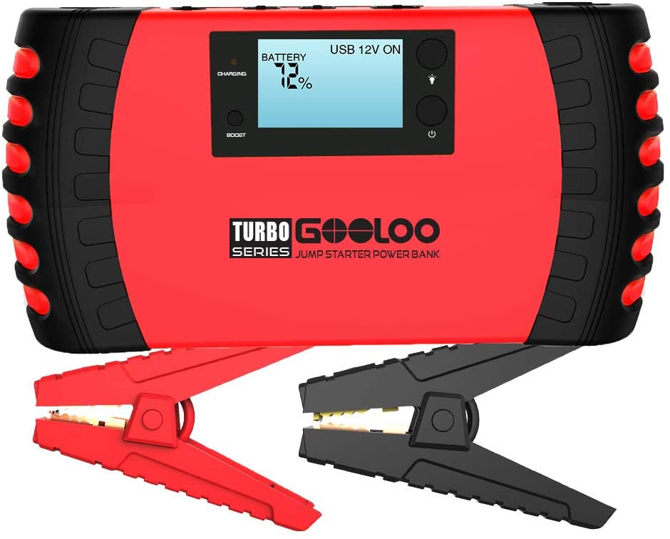 GOOLOO GP200 1500A Peak 20800mAh SuperSafe Car Jump Starter with USB Quick Charge 3.0 12V Auto Battery Booster Portable