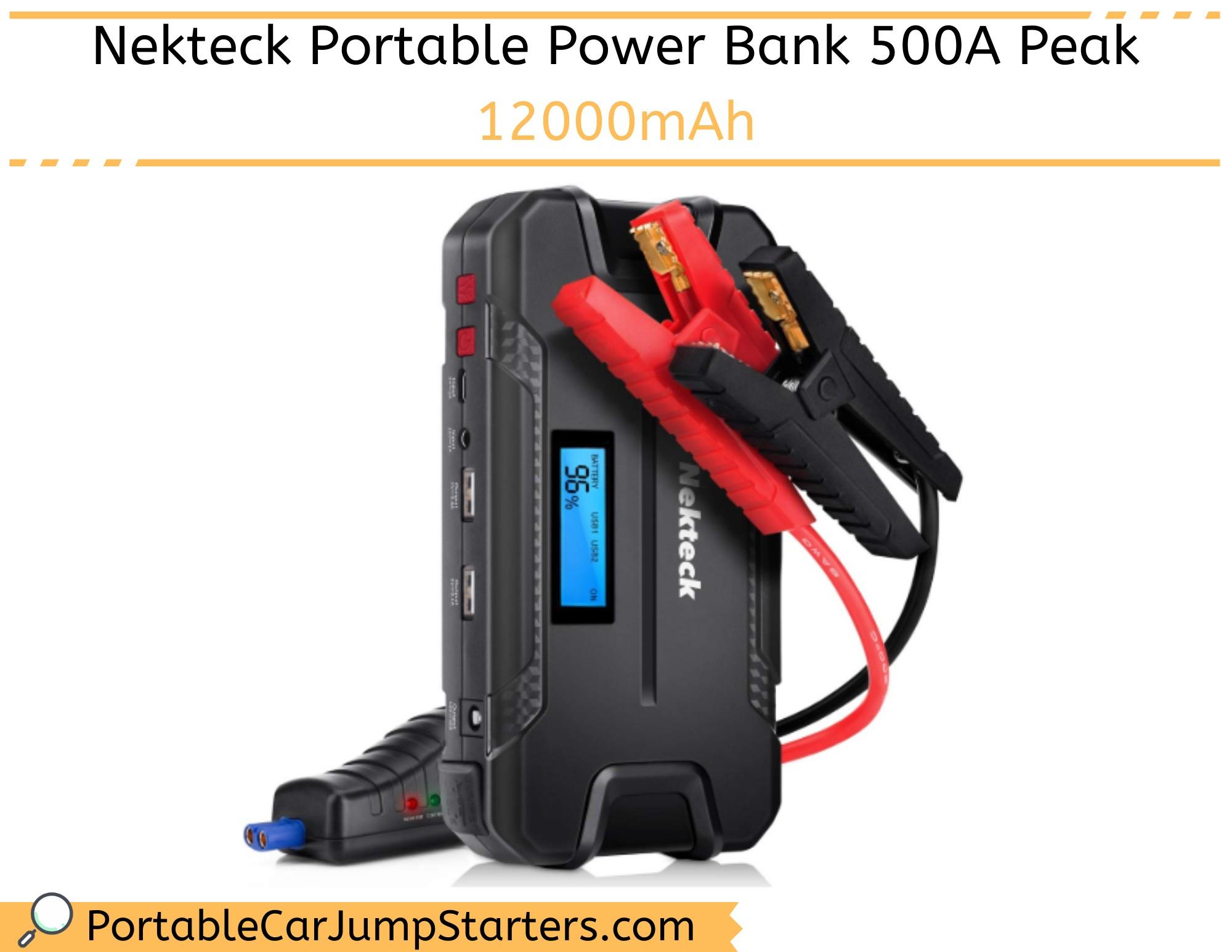 Thumbnail for Nekteck Portable Power Bank 500A Peak 12000mAh