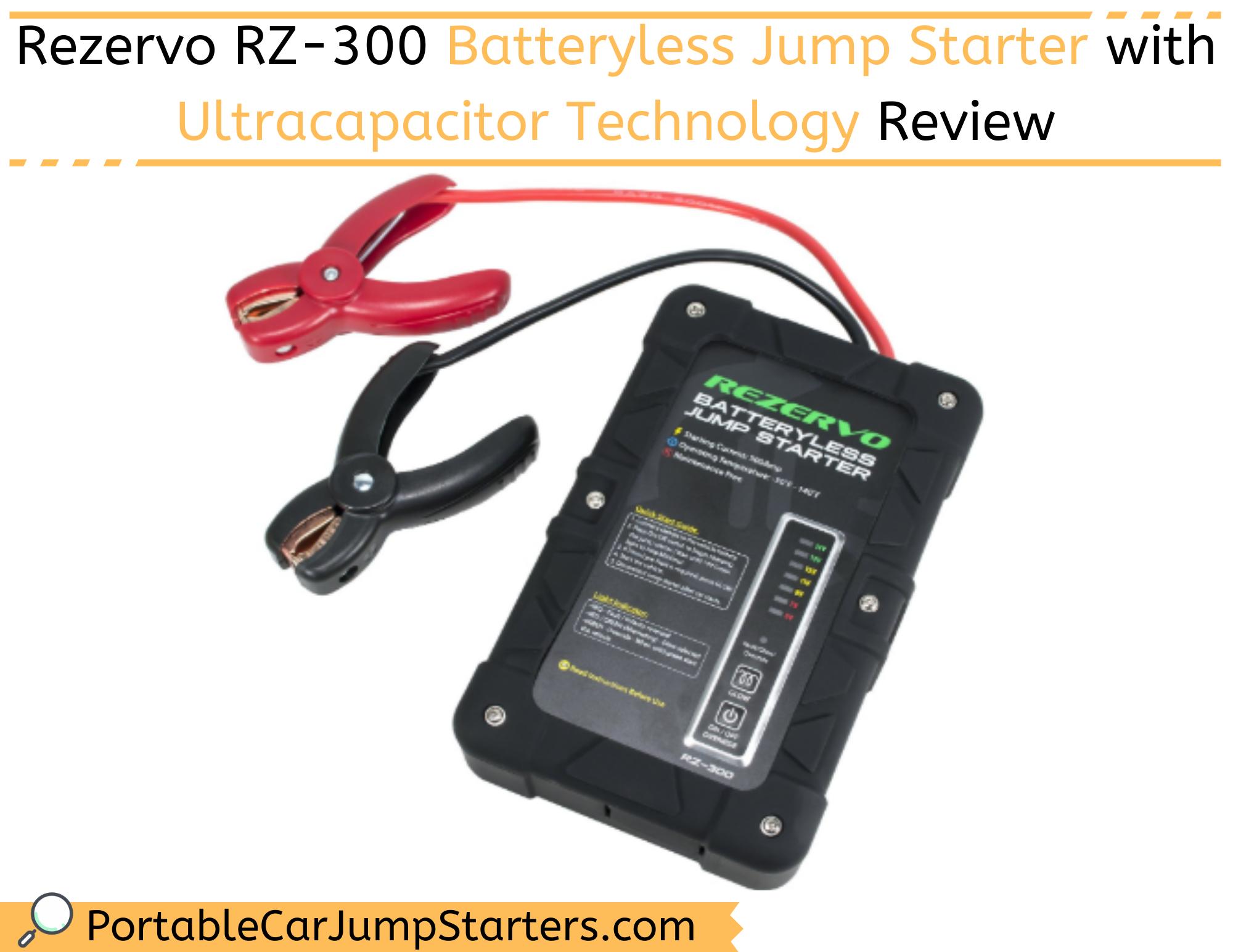 Thumbnail for Rezervo RZ-300 Batteryless Jump Starter with Ultracapacitor Technology Review